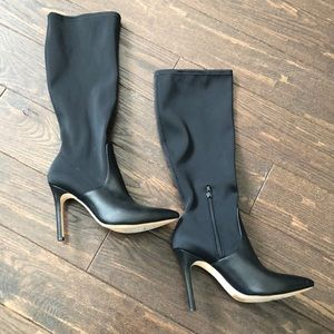 Halston Heritage Melissa Tall Leather Stiletto